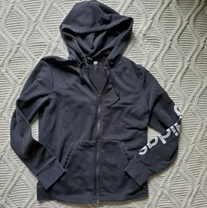 Adidas Women's Black Zip Up Hoodie